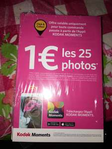25 Tirages photo offerts au Format 10x15 cm (Via l'application mobile)