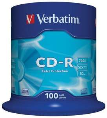 Lot de 100 CD-R 52x Verbatim Extra Protection - 700 Mo