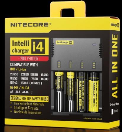 Chargeur intelligent Nitecore I4 - Prise UE