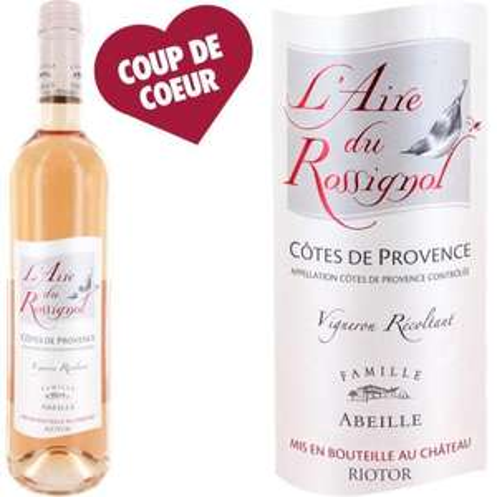 Vin rosé Côtes de Provence L'Aire du Rossignol 2014 - 75 cl