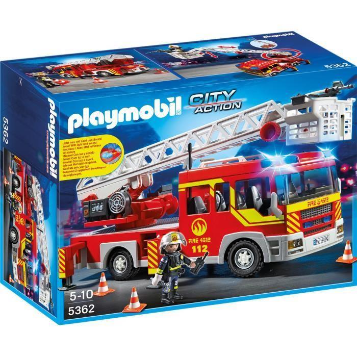 Sélection de jouets Playmobil en promotion - Ex : Camion Pompier Échelle Sirène