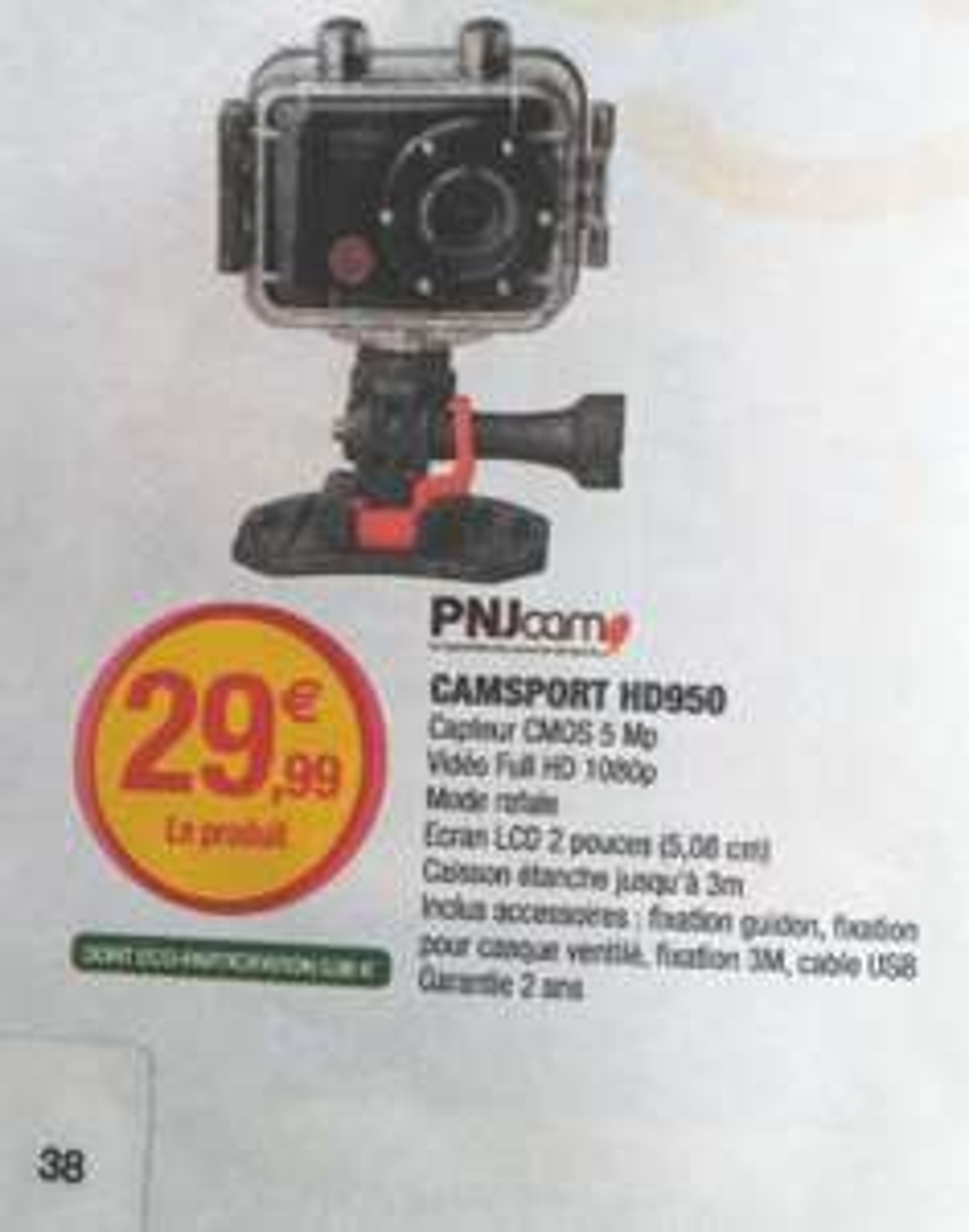 Caméra sportive PNJ Camsport HD950