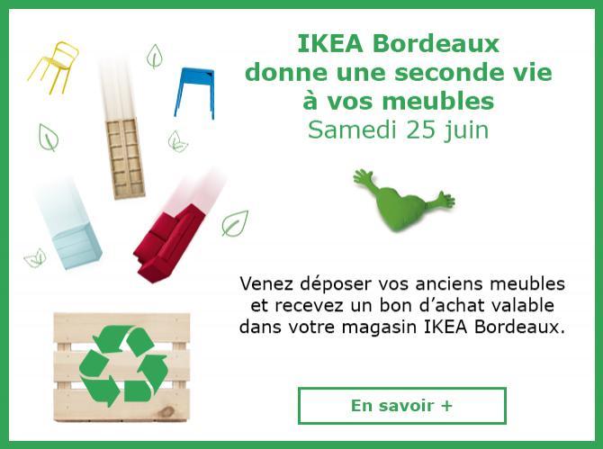 [Ikea Family] jusqu'a 100€ offerts en bon d'achat en l'échange de vos  anciens meubles