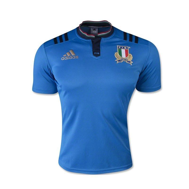 Maillot de rugby Italie Adidas Replica pour Adultes - Tailles : L à 2 XL