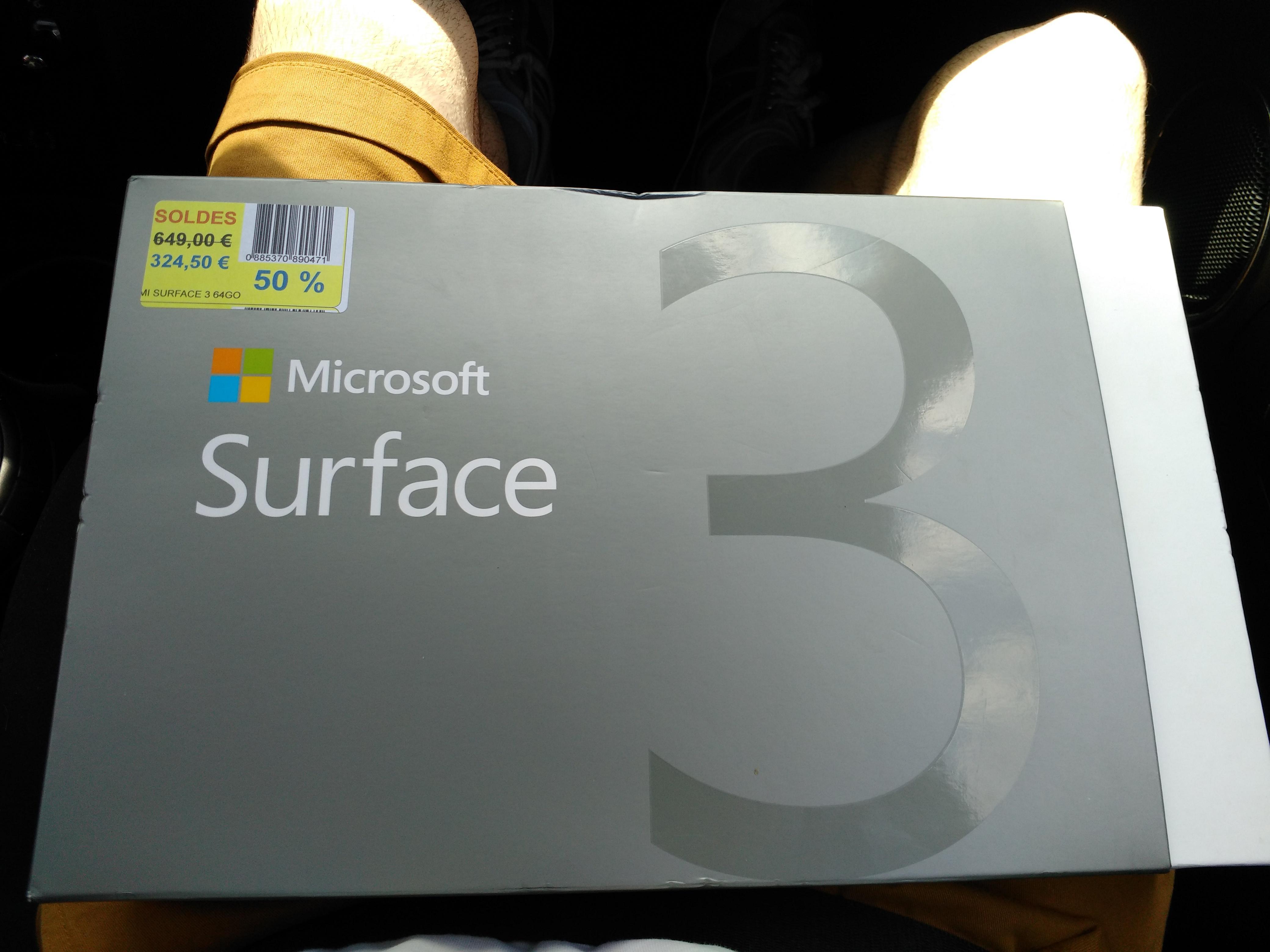 Tablette Microsoft surface 3 (64 Go / 2 Go Ram)
