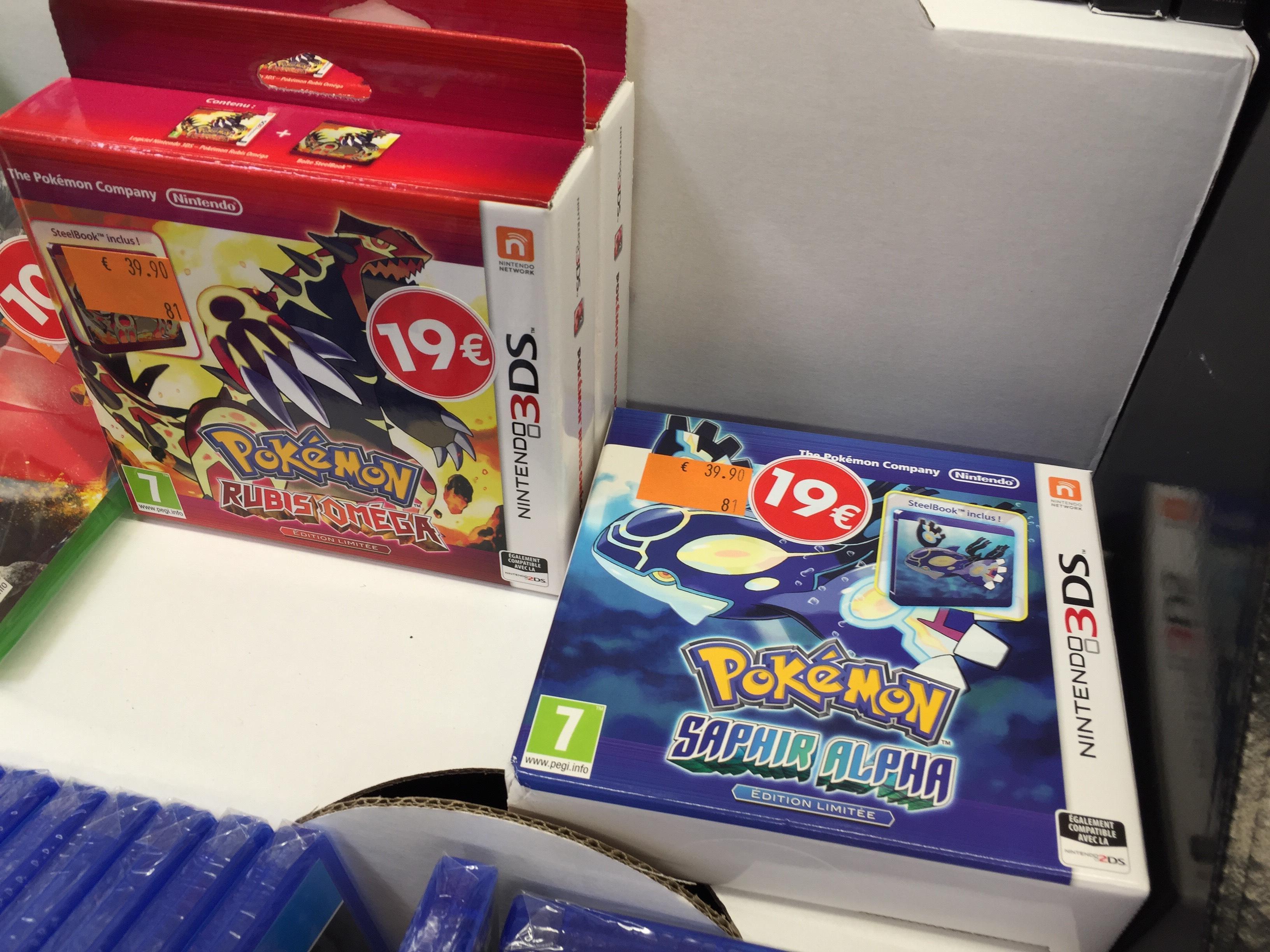Pokemon Saphir Alpha / Rubis Oméga sur Nintendo 3DS - Version normale ou Stealbook