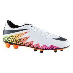 Chaussures de football à crampons Hypervenom Phade FG pour adulte - Blanc