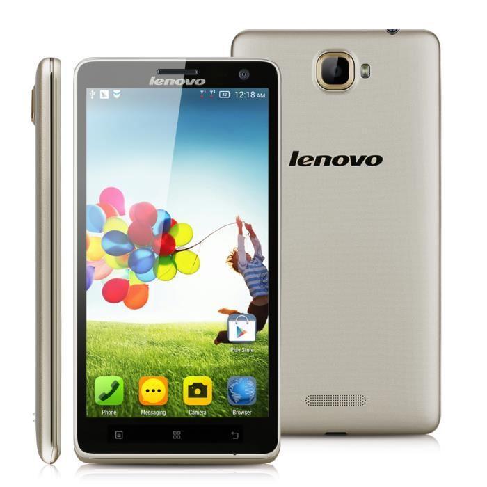 "Smartphone 5,5"" Lenovo S856 4G - ROM 8 Go, RAM 1 Go"