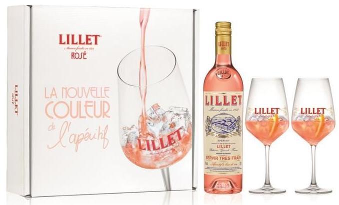 Coffret Lillet Blanc/rosé - 75cl + 2 verres offerts