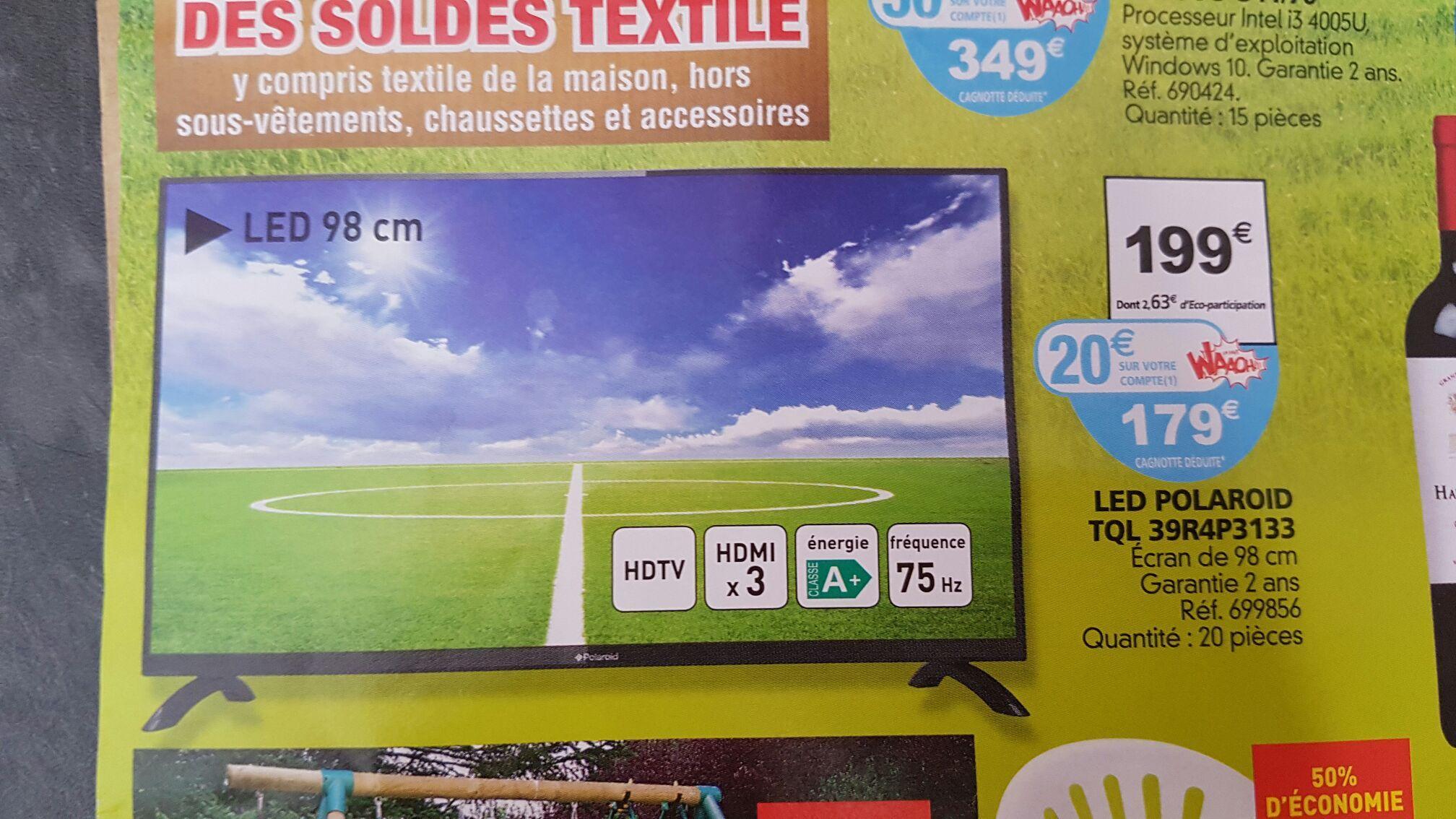 """TV 39"""" Polaroid Tql 39r4p3133 (avec 20€ sur la carte de fidélité)"""