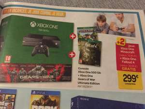 Pack Console Microsoft Xbox One 500 Go Gears of War Ultimate Edition + Minecraft + Fallout 4