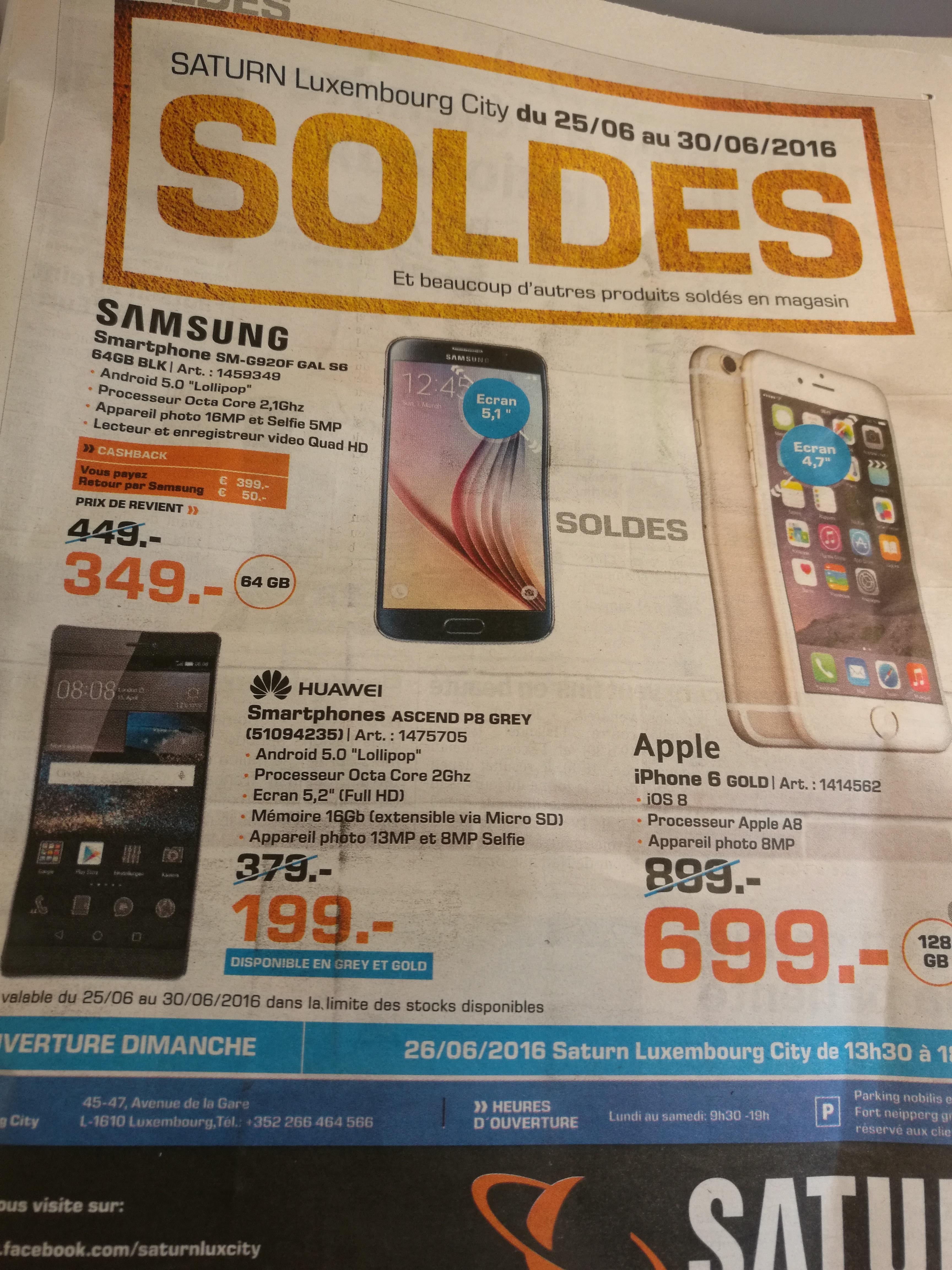 """Smartphone 5.2"""" Huawei Ascend P8 Gris ou Gold - Full HD, RAM 3 Go, ROM 16 Go"""