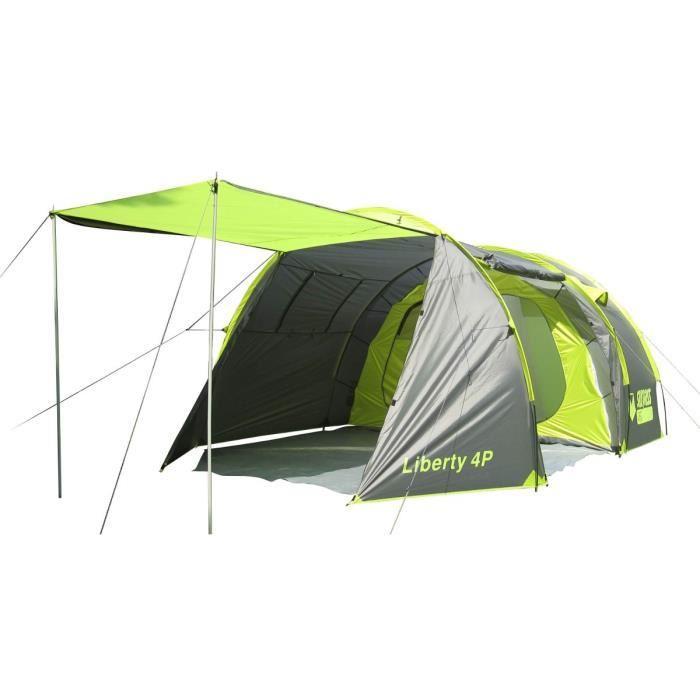 Tente Camping Surpass Liberty - 4 Places, Vert/Gris