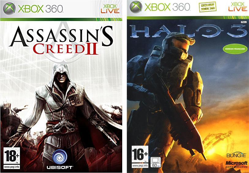 Téléchargement gratuit d'Assassin's Creed II et Halo 3 (pour les comptes Gold)