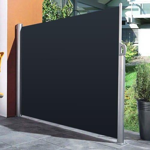 paravent rétractable Lbh Jardin - Gris, 160x300cm