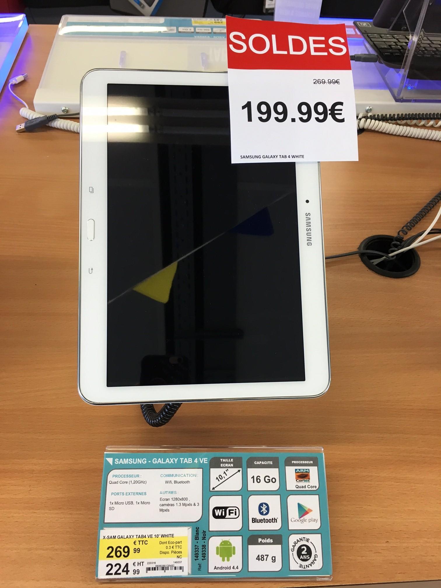 """Tablette 10.1"""" Samsung Galaxy Tab 4 - Blanc, WiFi, 16 Go"""
