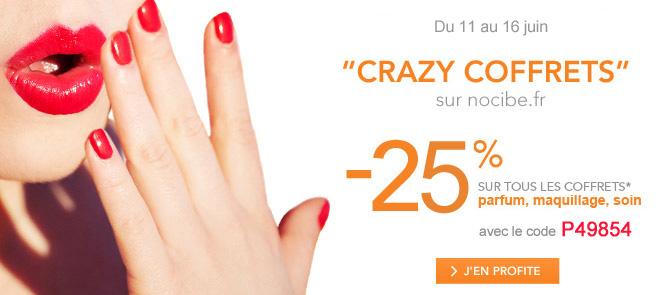 25 % sur les coffrets parfum, maquillage et soin