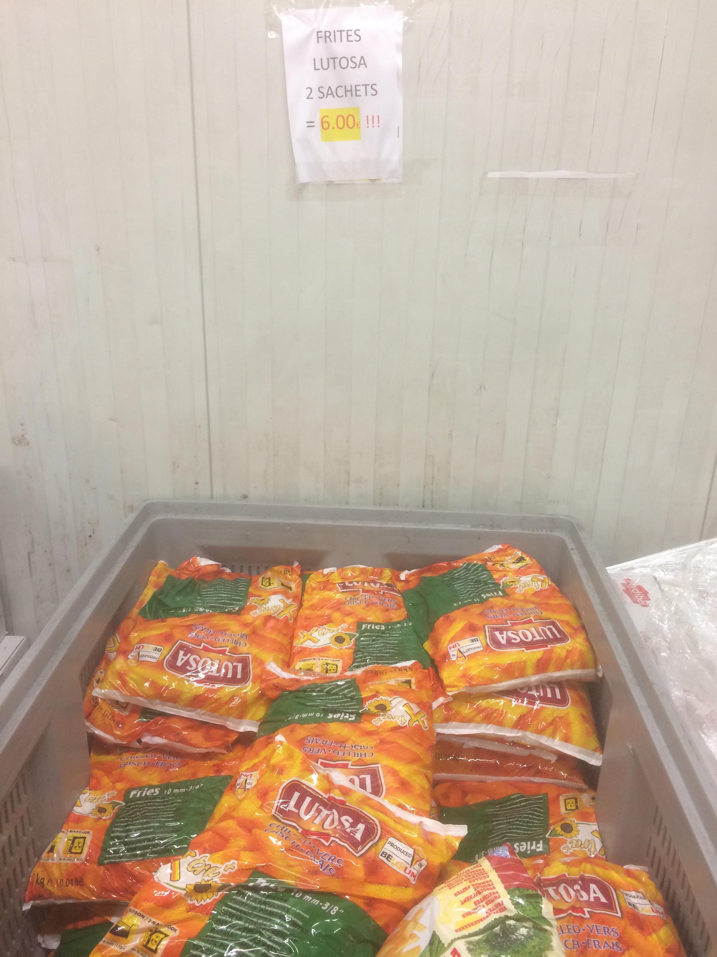 Lot de 2 sachets de Frites Lutosa (5kg)