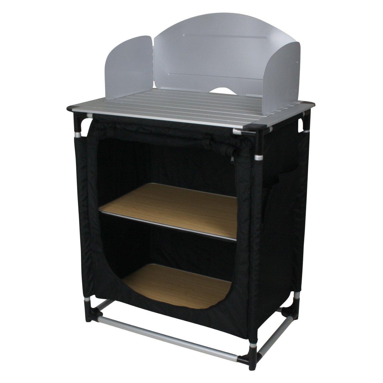 Meuble cuisine / camping 10T CamKitchen - noir (75x53x117 cm)
