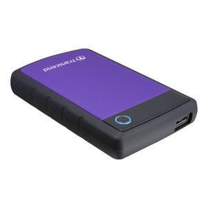 """Disque dur 2.5"""" Transcend StoreJet 25H3P USB 3.0 - 500 Go, violet"""