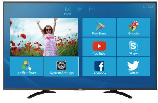 "TV  49"" Haier LE49U5000A - Smart TV  / Full HD (3 ports HDMI / 2 USB)"