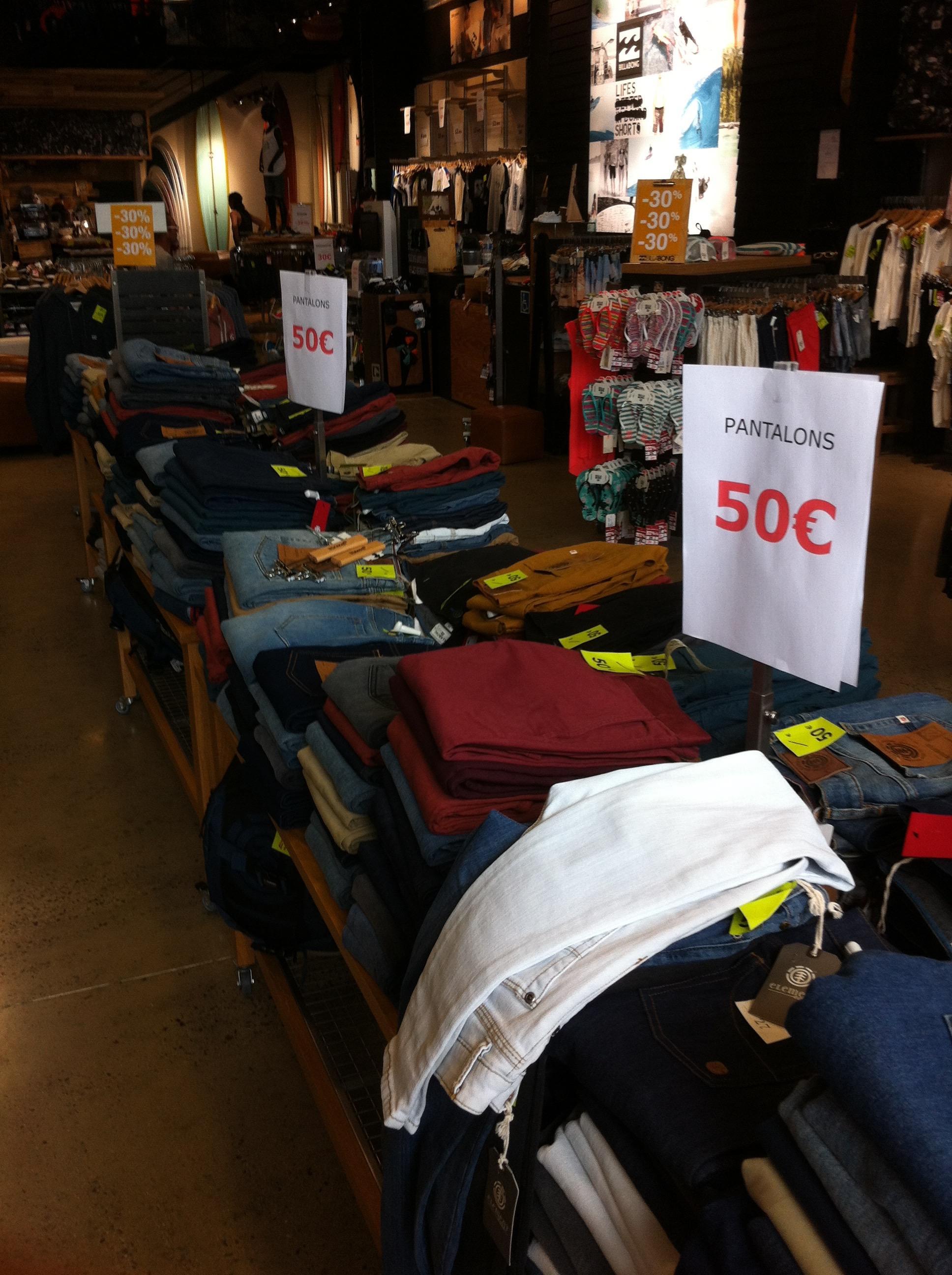 Sélection de jeans Billabong et Element