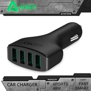 Chargeur allume cigare Aukey 4 ports 9,6A / 48W