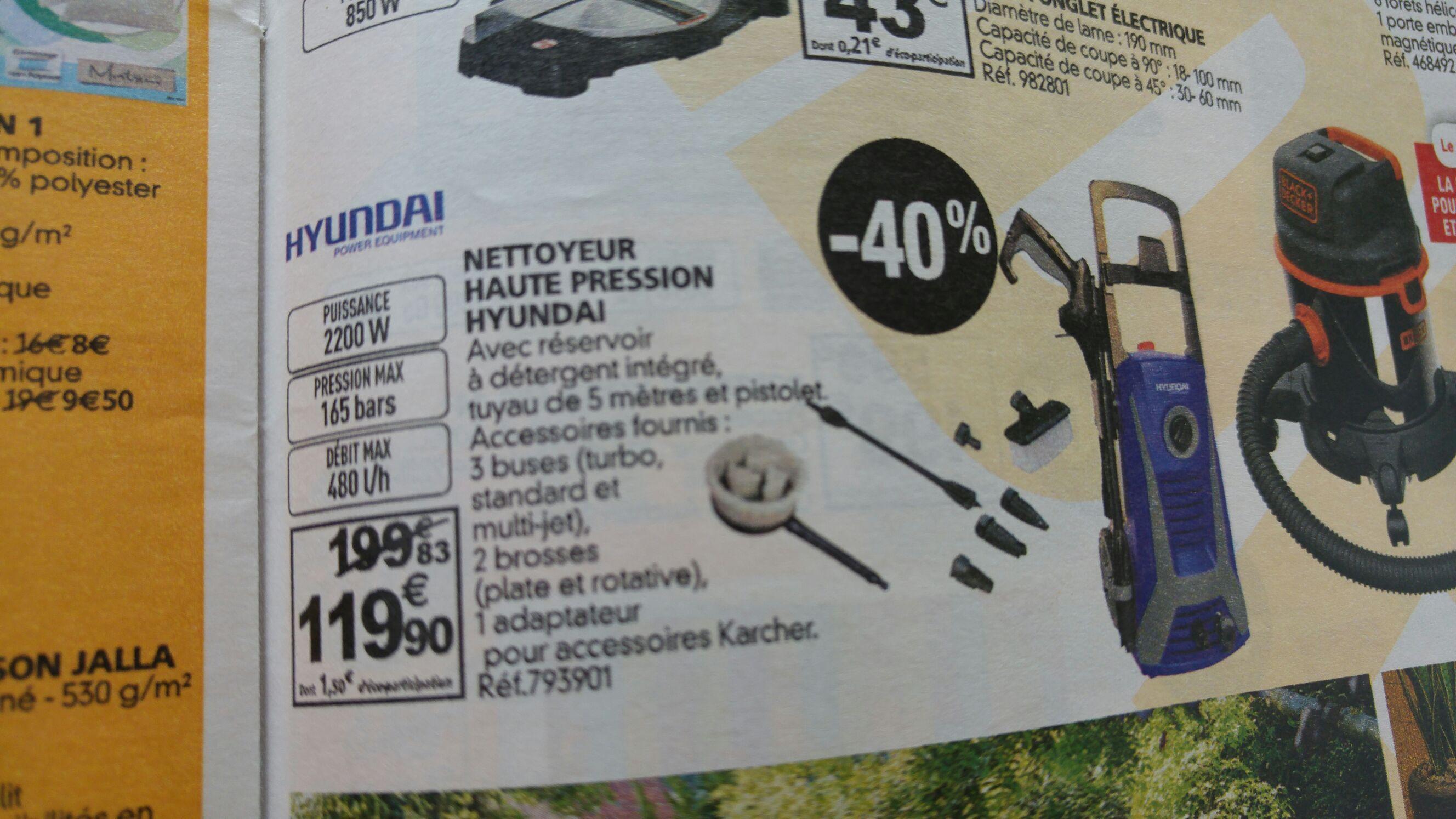 Nettoyeur haute pression Hyundai HNHP2200-165ACCR 2200w / 480 l / 165 bars