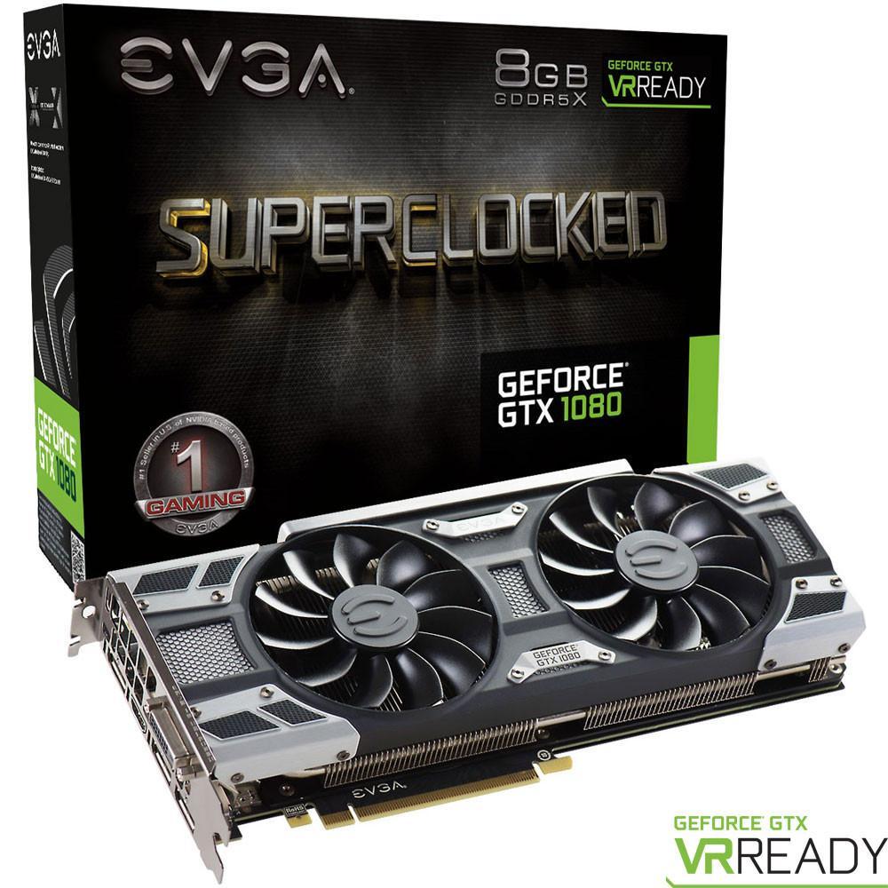 Carte graphique EVGA GeForce GTX 1080 SuperClocked GAMING ACX 3.0, 8 Go,