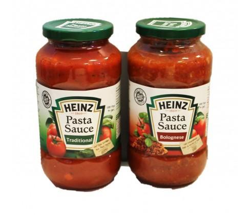 Bocal de sauce tomate Heinz Pasta Sauce (Variétés au choix) - 600g