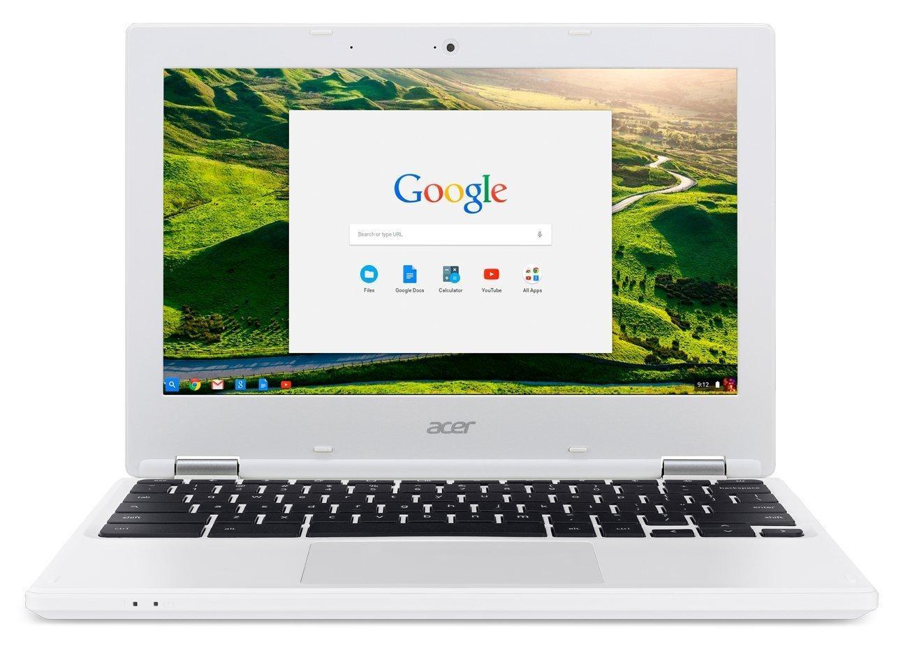"""PC Portable 11"""" Acer Chromebook CB3-131-C2V4 Blanc - N2840, RAM 2Go, SSD 16 Go, Chrome OS"""