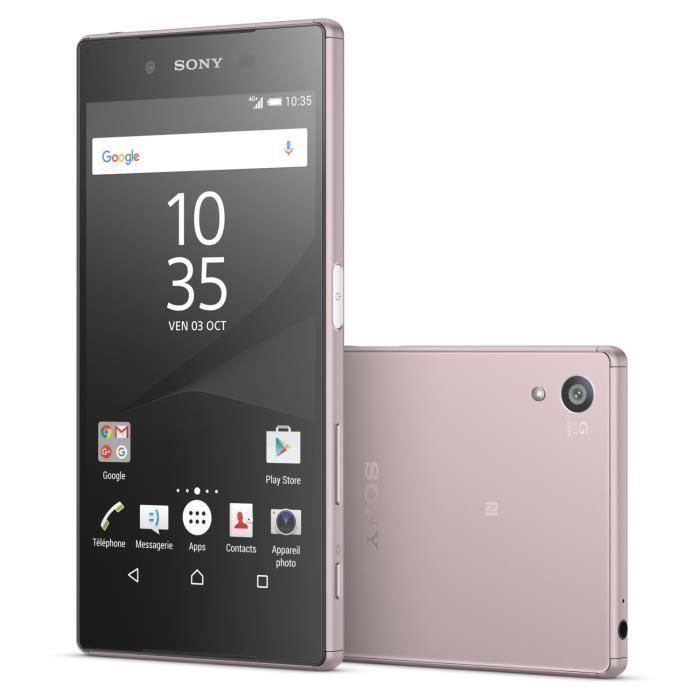 """Smartphone 5,2"""" Sony Xperia Z5 Rose - 32 Go (via ODR 100€)"""