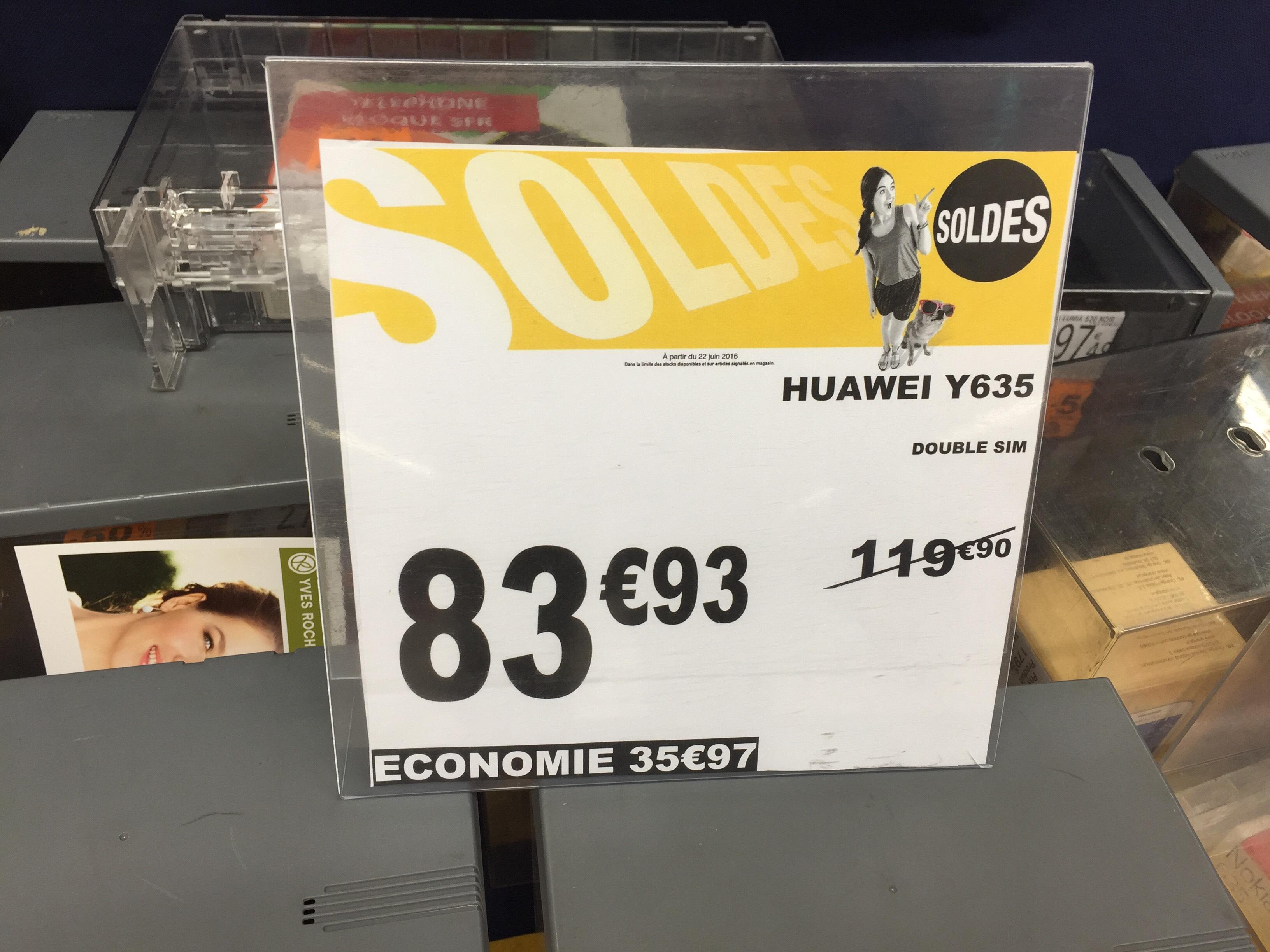 "Smartphone 5"" Huawei Y635 Noir ou Blanc G Double Sim (via ODR de 40€)"