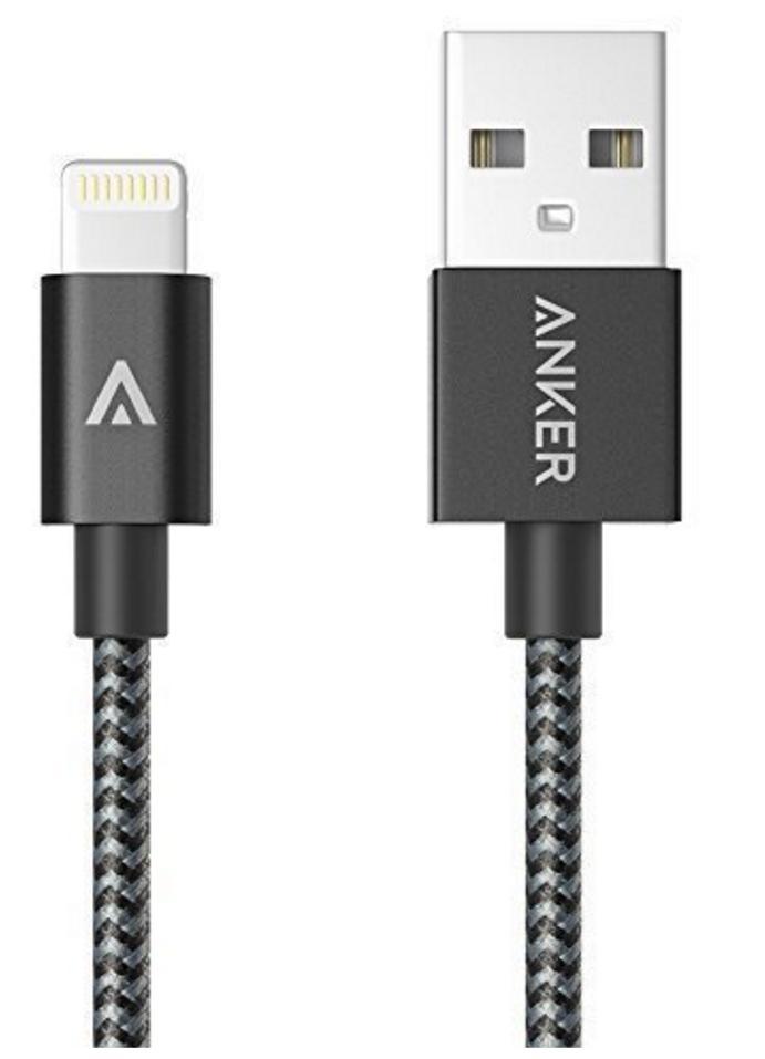 Câble lightning Anker - 180cm, Nylon, certifié MFI