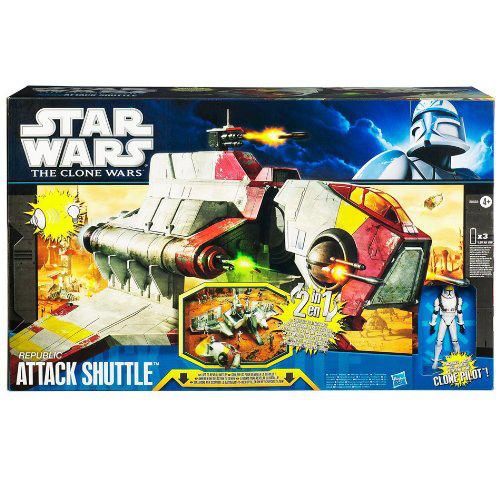 Sélection d'articles Star Wars en promotion. Ex : Vaisseau de la république The Clone Wars, 50 cm