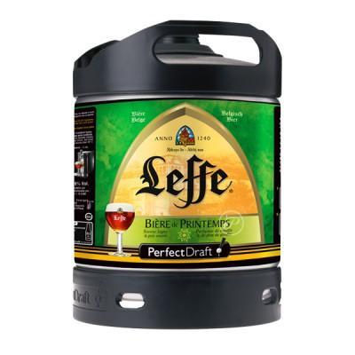 Fut bière Leffe Printemps Perfectdraft 6 L + Verre à bière Leffe 33cl Nouvelle Edition 2016