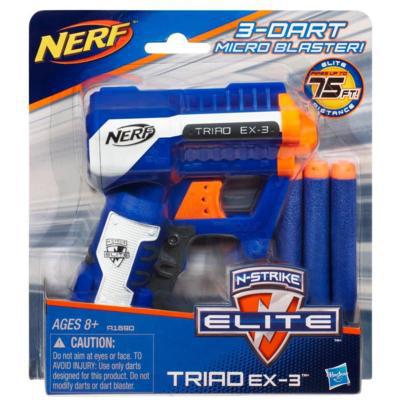 2 pistolets Nerf Elite triad EX3
