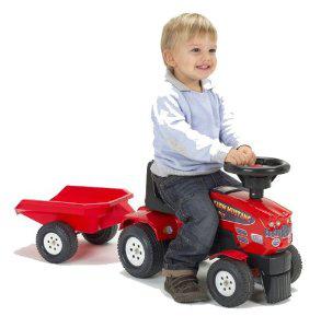 Tracteur Falk avec remorque