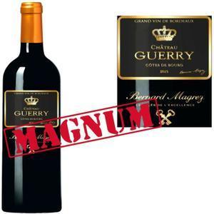 Une bouteille de vin Magnum Château Guerry Côtes de Bourg 2013
