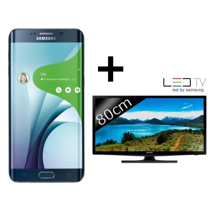 "Smartphone 5.7"" Samsung Galaxy S6 Edge Plus Noir + TV LED 32"" Samsung UE32J4100 HD"