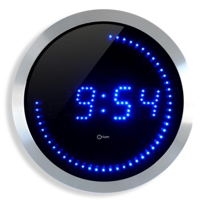 [Cdiscount à volonté] Horloge murale Ø30cm à LED bleue ou rouge
