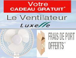 Votre ventilateur Luxelle + frais de port gratuit