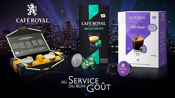 Capsules Café Royal compatibles Nespresso ou Dolce Gusto