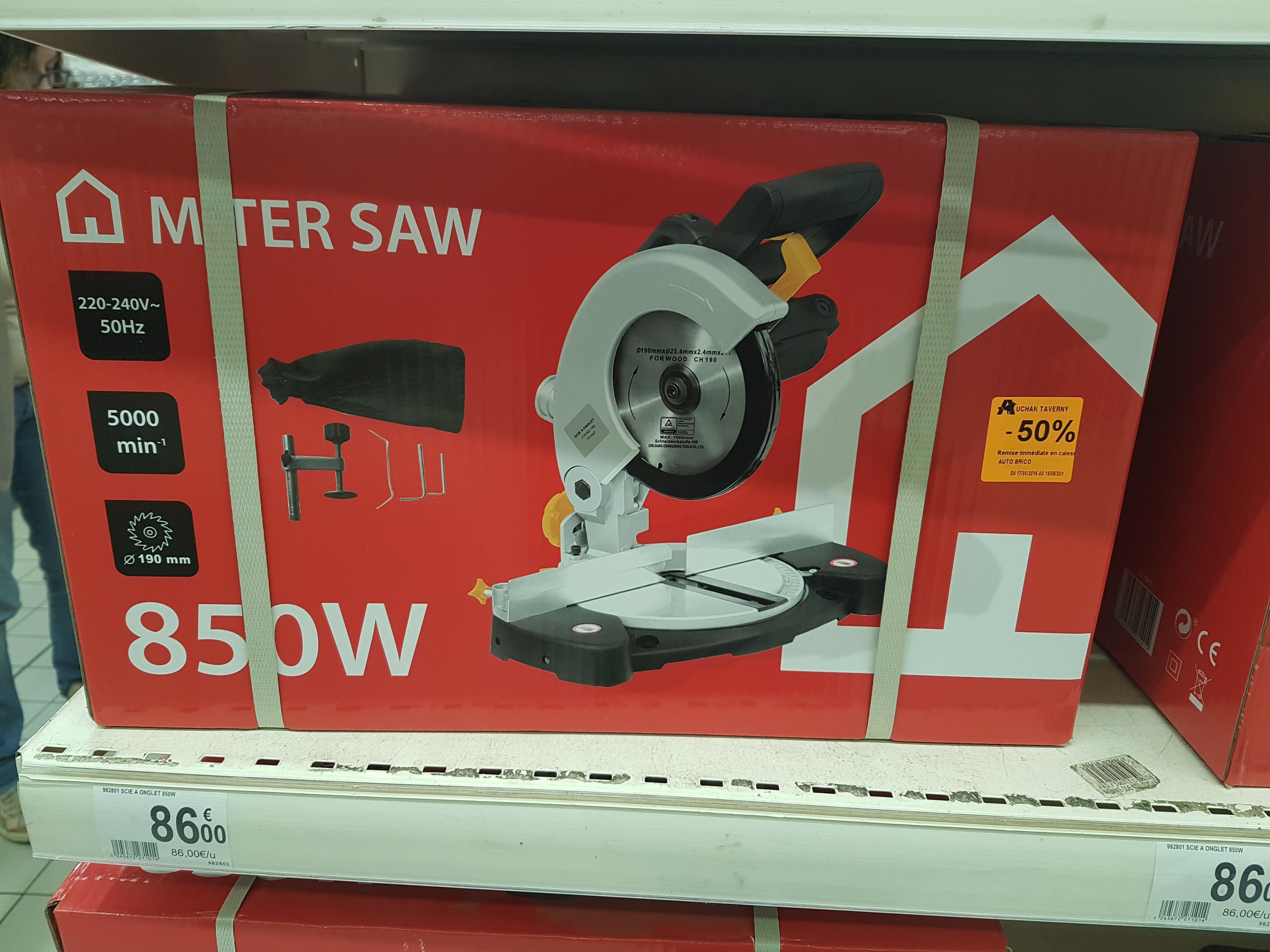 Scie à onglet électrique Miter Saw (850 W, 19 cm)