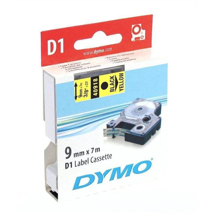 Sélection d'articles en promotion - Ex : Cassettes de ruban Dymo D1 - 19x7mm, Noir/jaune