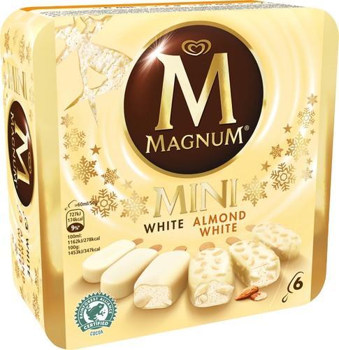 Boîte de 6 mini-Magnum glacés (plusieurs parfums)