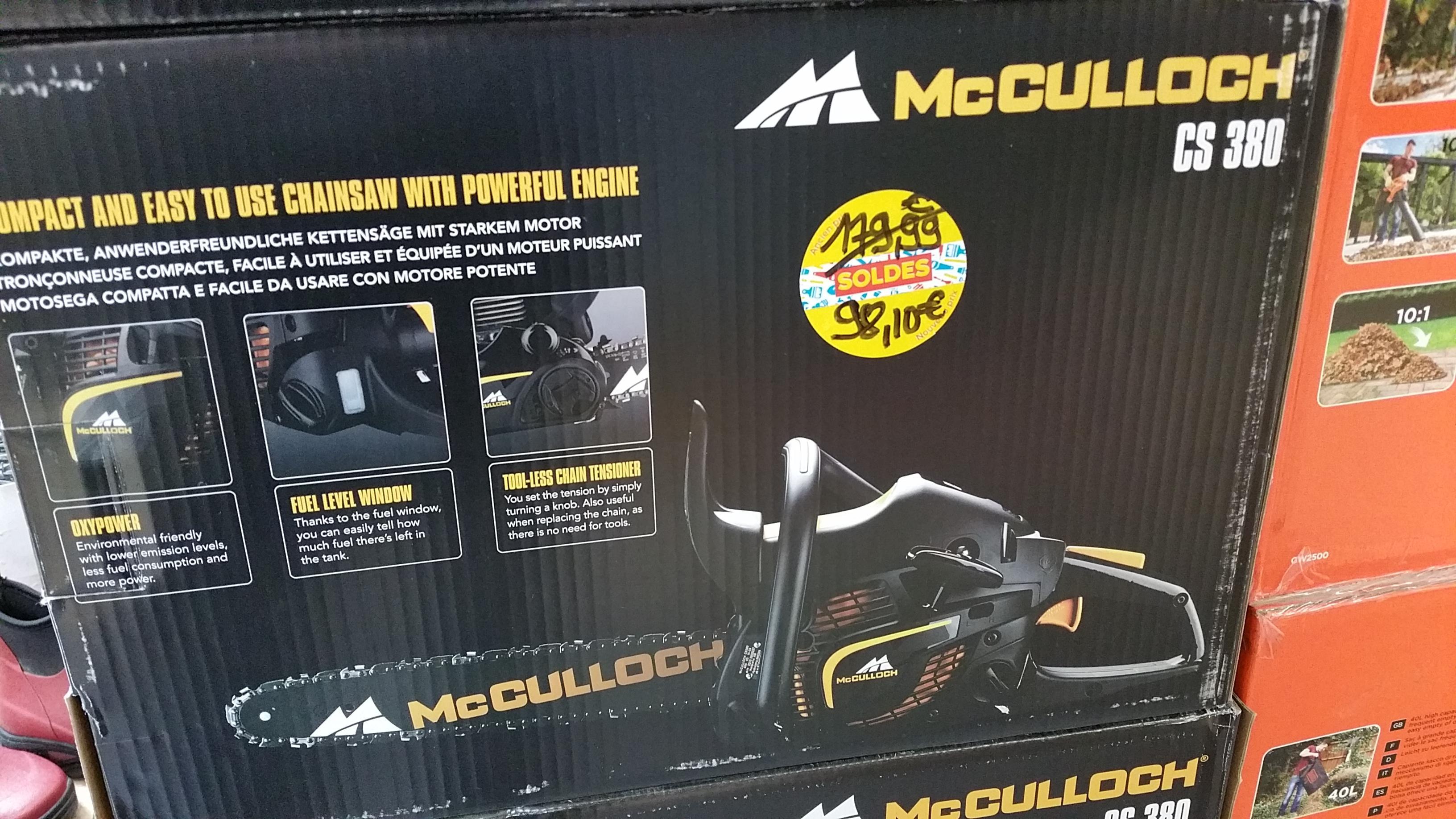 Tronconneuse thermique McCulloch CS 380