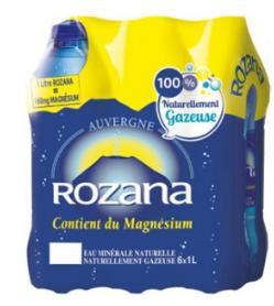 2 packs de 6 bouteilles d'eau Rozana - 12 x 1L (via Coupon Network + BDR)