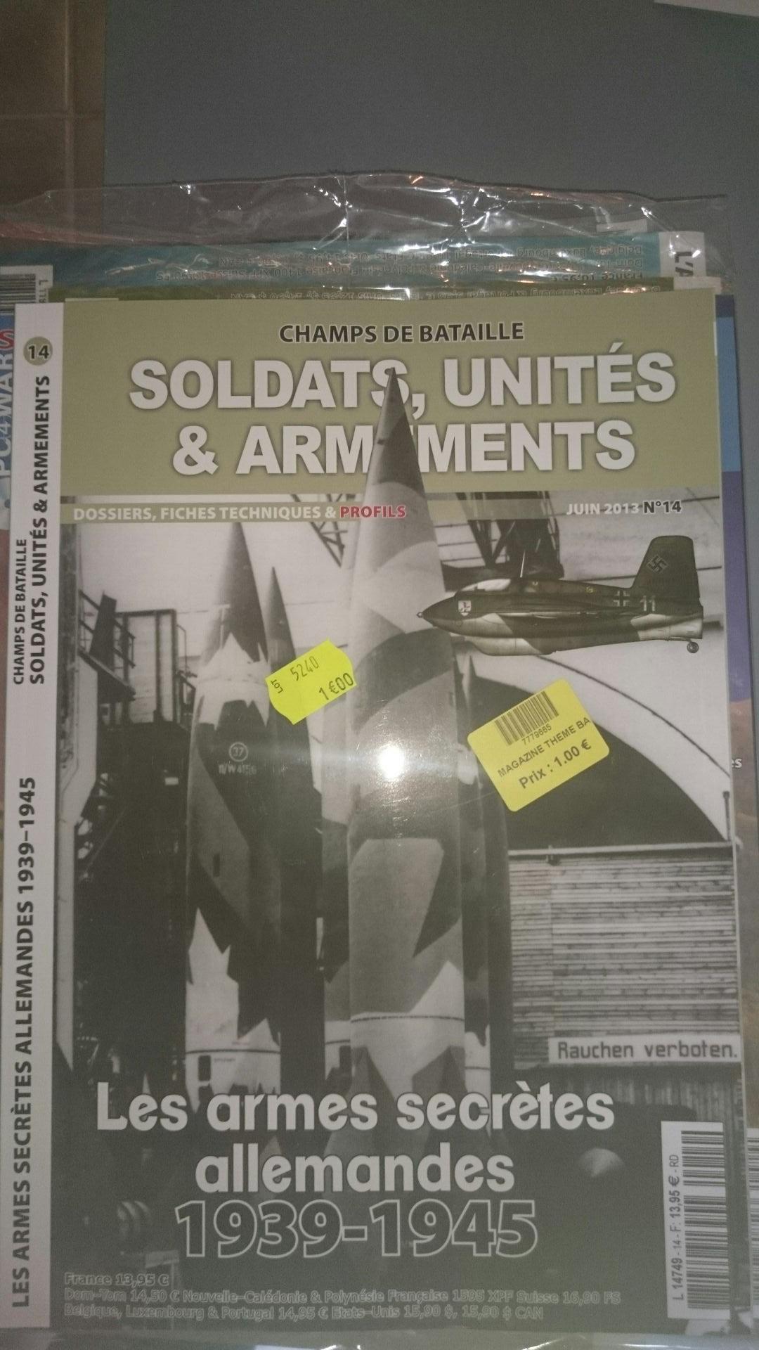 Sélection de magazines Historia 2nd guerre mondiale en promotion - Ex : Soldats, unités et armements