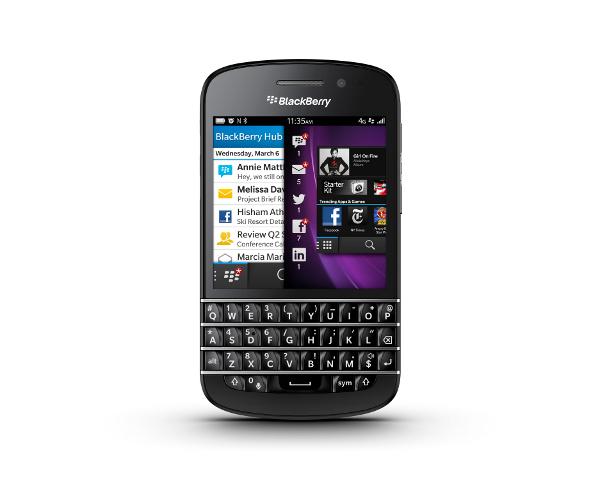 Smartphone BlackBerry Q10 avec ODR (70€)